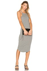 Lna Square Bib Dress Gray