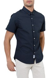 7 Diamonds Star Rider Trim Fit Sport Shirt Navy