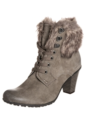 Tom Tailor Laceup Boots Mud Taupe