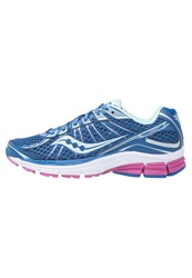 Saucony Jazz 17 Cushioned Running Shoes Blue Pink Mint