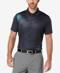 Pga Tour Men's Vanishing Argyle Print Polo Shirt Asphalt