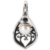 Trollbeads Soft Wind Of Change Sterling Silver And Pearl Pendant Silver