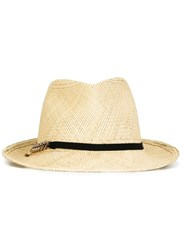 Stella Mccartney Panama Hat Nude Neutrals