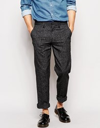 Farah Trousers With Fleck Slim Fit Black