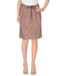 Henry Cotton's Skirts Knee Length Skirts Women Dove Grey