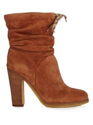 See By Chloe Jona Suede Ankle Boots Tan