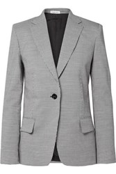 Tomas Maier Pepita Houndstooth Wool And Cotton Blend Blazer Gray