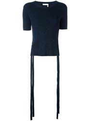 See By Chloe Ribbed Side Tiero Top Blue