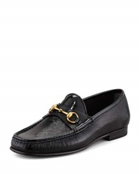 Gucci Patent Horsebit Loafer Black