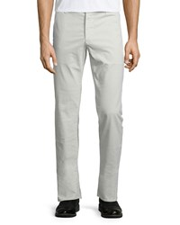 Ag Adriano Goldschmied Lux Khaki Flat Front Trousers Bleached Sand