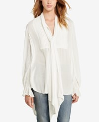 Denim And Supply Ralph Lauren Tuxedo Blouse White