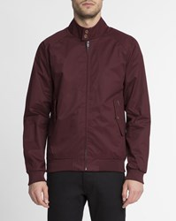 Ben Sherman Burgundy Buttoned Collar Cotton Jacket