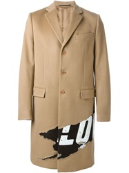 Givenchy Love Print Evening Coat Brown