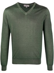 Canali Relaxed Fit Jumper Green