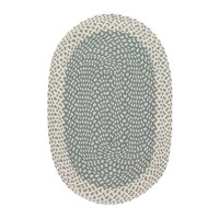 The Braided Rug Company Organic Jute Oval Thistle Green