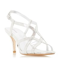 Linea Minelli Strappy Heeled Sandals Silver