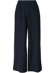 Carven Wide Leg Trousers Blue