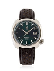 March La.B Round Automatic Watch With Leather Band