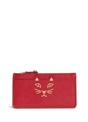 Charlotte Olympia 'Feline' Cat Face Coin Pouch Red