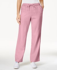 Charter Club Linen Pants Only At Macy's Peach Blush