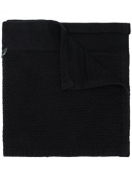 Stone Island Shadow Project Zipped Scarf Black