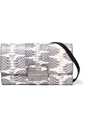 Michael Kors Gia Snake Clutch Gray