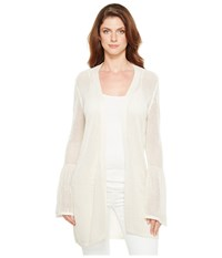 Calvin Klein Bell Sleeve Cardigan With Lurex Soft White Women's Sweater