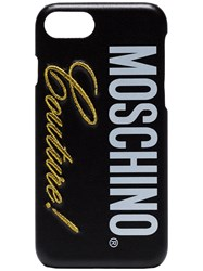 Moschino Black Couture Logo Iphone 8 Case