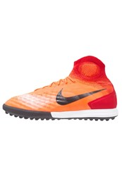 Nike Performance Magistax Proximo Ii Tf Astro Turf Trainers Total Crimson Black University Red Atomic Pink Pearl Pink Orange