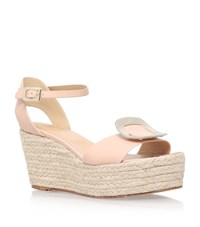 Roger Vivier Chips Espadrille Wedge Sandals Female Nude