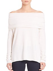 Vince Cashmere Off The Shoulder Sweater Off White