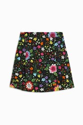 Victoria Beckham Printed Faille Mini Skirt Multi