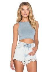 Free People Bella Coachella High Neck Crop Cami Blue
