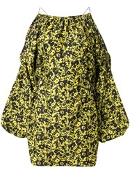 Camilla And Marc Monet Floral Print Mini Dress Yellow