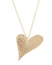 Love By Nashelle Hammered Sweetheart Pendant Necklace Gold