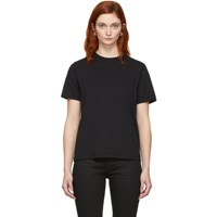Mcq By Alexander Mcqueen Black Swallow Badge T Shirt