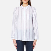 Rails Women's Charli Stripe Shirt White Ryal Magenta