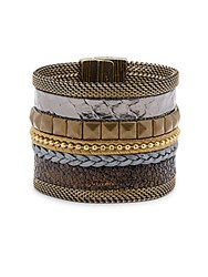 Cynthia Desser Wide Striped Bangle No Color