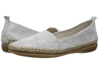 The Flexx Rapid White Ariel Macchiato Women's Flat Shoes Gray