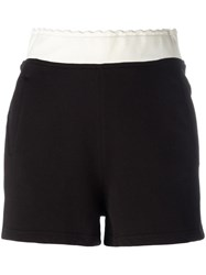 Mcq By Alexander Mcqueen Logo Embroidered Track Shorts Black