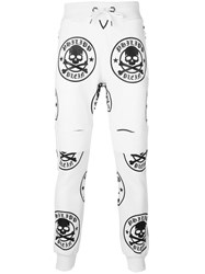 Philipp Plein French Track Pants Men Cotton S White