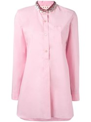 Marni Embellished Collar Shirt Pink Purple