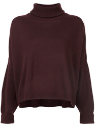 Dusan Roll Neck Sweater Brown