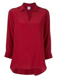 Aspesi V Neck Blouse Red