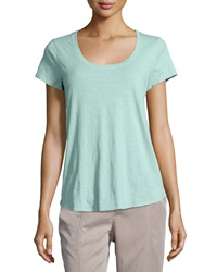 Eileen Fisher Slubby Short Sleeve Scoop Neck Tee