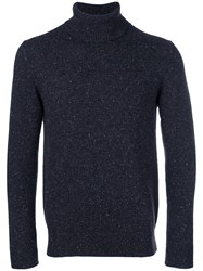 Circolo 1901 Roll Neck Fitted Sweater Blue