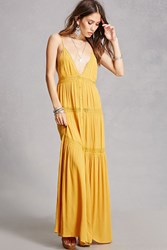 Forever 21 Lace Panel Maxi Dress