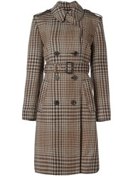 3.1 Phillip Lim Houndstooth Trench Coat Black