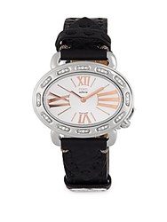 Fendi Studded Stainless Steel Strap Watch Silver