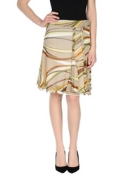 Marella Knee Length Skirts Beige